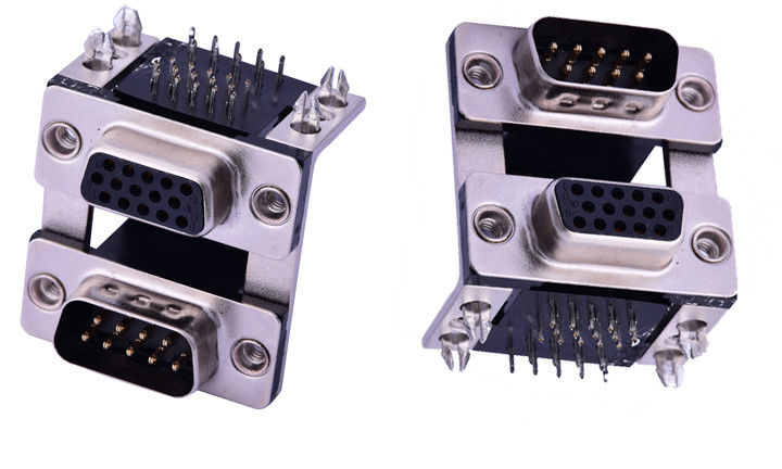 Female D Sub Connector 9PIN Public Seat Combination Type Insulation Resistance