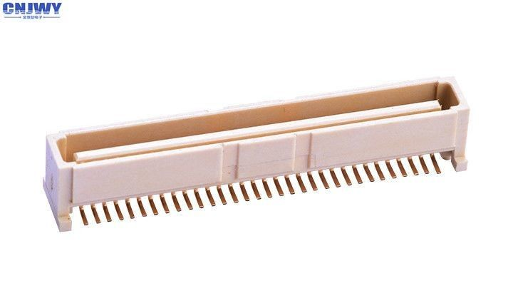 64 PIN Bit PCB Board To Board Connector 1.0MM Vertical Seat Beige LCP Material