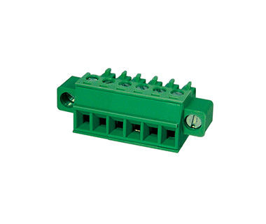 Plugable Terminal Block Connector CPT 3.81mm Pitch 1*10P Green PA66 SN Plated 30-16AWG